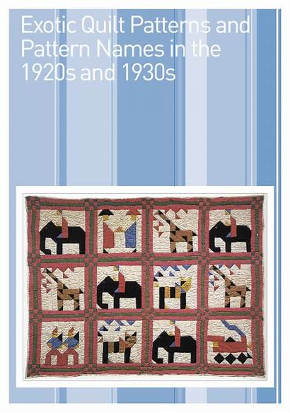 Names Patterns Quilt Pattern 1930s Exotic 1920s