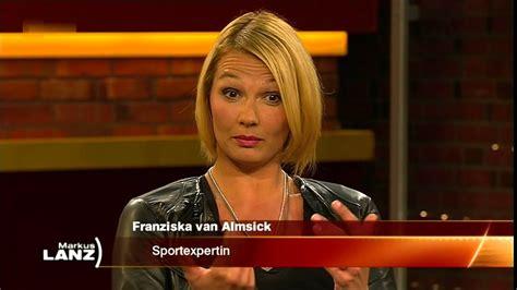 markus lanz  guido buchwald franziska van almsick