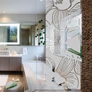 Stickers Pour Vitre : stickers muraux pour portes de douche fleur d 39 orchid e ~ Melissatoandfro.com Idées de Décoration