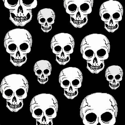 Skull Skulls Animated Gifs Halloween Giphy Animation