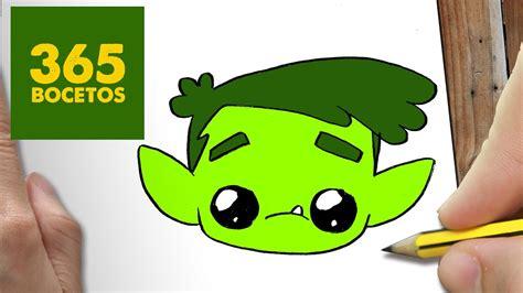 como dibujar chico bestia kawaii paso  paso dibujos kawaii faciles youtube