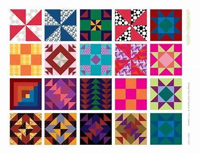 Quilt Clip Amish Designs Clipart Printable Squares