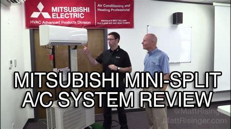 mitsubishi mini split ac system review youtube