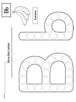 letter b do a dot worksheet do a dot preschool letters letter b activities
