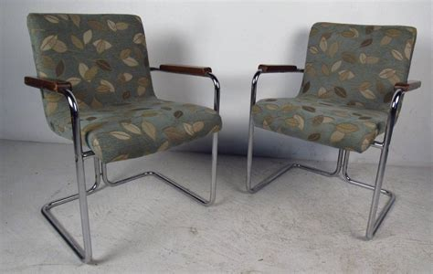 modern set of tubular steel dining chairs for sale at 1stdibs