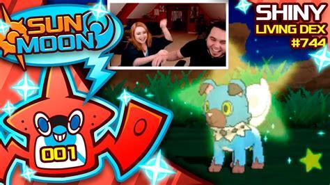 MY WIFES FIRST LIVE SHINY! SHINY ROCKRUFF! Pokemon Sun and Moon Shiny! - YouTube