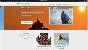 Présentation du thème WordPress français Concept