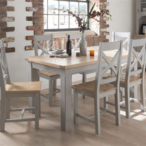 grey kitchen table wilkinson furniture clemence soft grey and solid oak