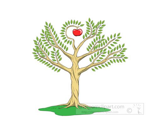 Images Of Tree Of School Clipart Tree Of Knowledge With Apple In The