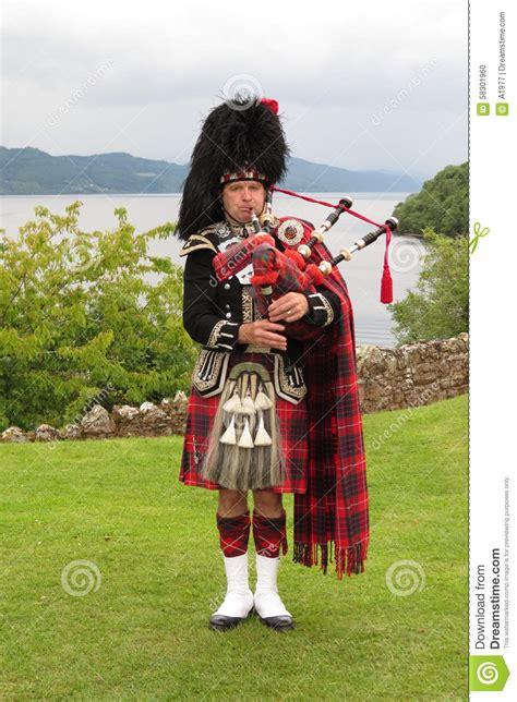 tartan black dress scottish bagpiper editorial image image 58301960