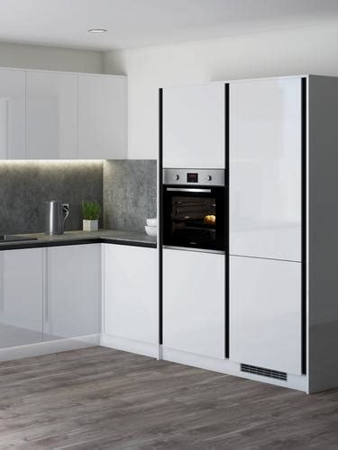 greenwich gloss white handleless kitchen fitted kitchens