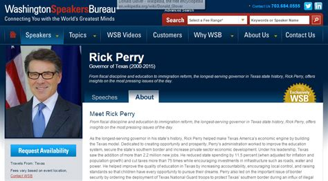 speakers bureau rick perry lands speaking circuit gig politics