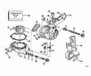 Evinrude Carburetor Parts For 1981 2hp E2rcib Outboard Motor