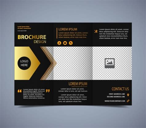 Graphic Design Brochure Templates by Tri Fold Brochure Template Free Vector 14 132