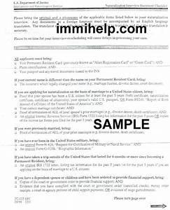 naturalization interview document checklist With document checklist uscis