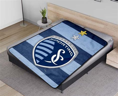 Sporting Kansas City MLS Soccer Team Fleece Blanket Quilt ...