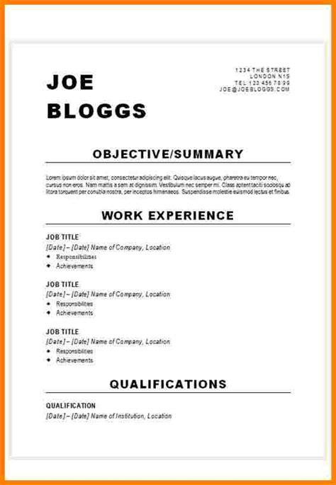 8 how to set out a cv daily chore checklist