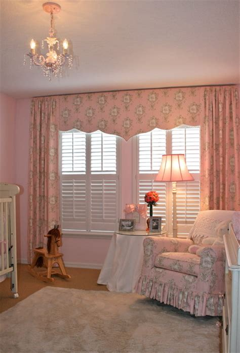 girls baby room traditional tampa  finishing touches
