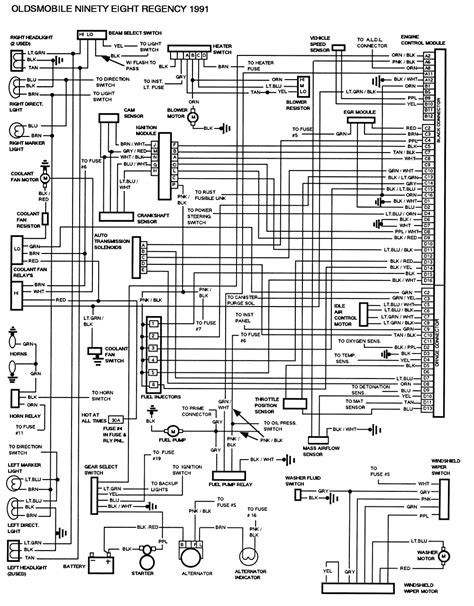1985 Buick Century Wiring Diagram by Oldsmobile 98 Fuse Box Wiring Diagram