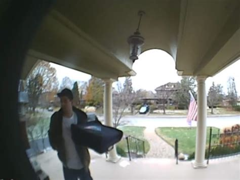 man poses  pizza guy  steal package  porch wway tv