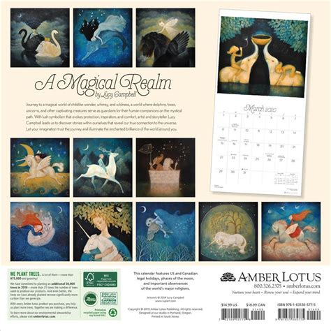 magical realm campbell wall calendar
