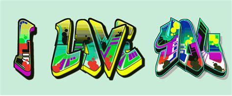 Gambar Abjad Graffiti Bubble : 150+ Contoh Gambar Grafiti Tulisan Nama Keren