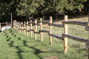 Poteau Bois Rond 3m : piquet cloture bois piquets en bois cl ture lattis en ~ Voncanada.com Idées de Décoration