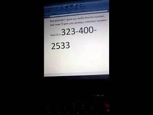 Zendaya's phone number! - YouTube