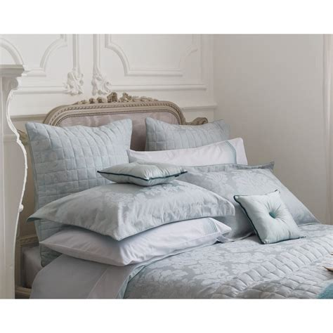 Bedeck Natalia Aqua Vintage Style Oxford Pillowcase
