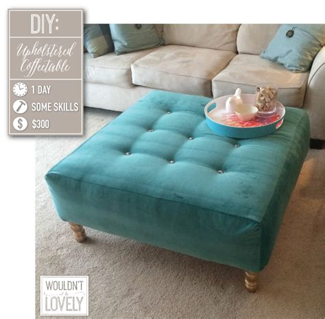 how to upholster an ottoman diy upholstered ottoman wouldn 39 t it be lovely