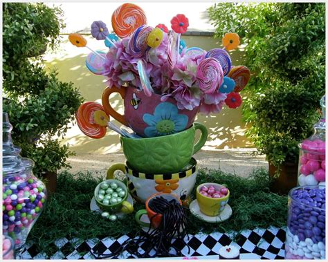 alice and wonderland table decorations alice in wonderland mad tea party candy buffet birthday