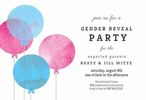 Cocktail Party Invitations Templates Free Simple Balloon Gender Reveal Invitation Template Free