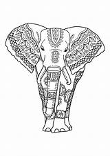 Coloring Elephants Pages Children Funny Printable Print Theme Justcolor sketch template