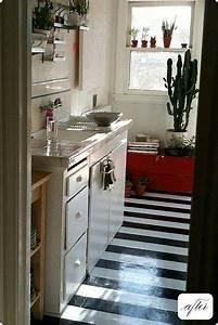 Bodenbelag Küche Linoleum : 10 stenciled painted diy floors that make it work in 2019 kitchen cabs for cin k che ~ Watch28wear.com Haus und Dekorationen