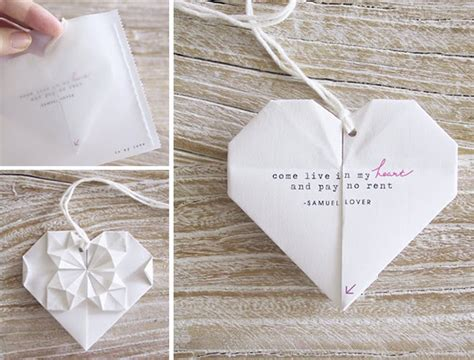 Origami Heart Invites Green Wedding Shoes