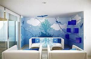 Marvelous Room Wall Designs With Scenary Painting Plus ...
