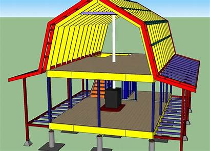 Gambrel Shed Plans Barn Roof Cabin Floor