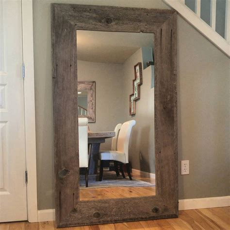 home decor mirror reclaimed wood mirror rustic home decor mirror by