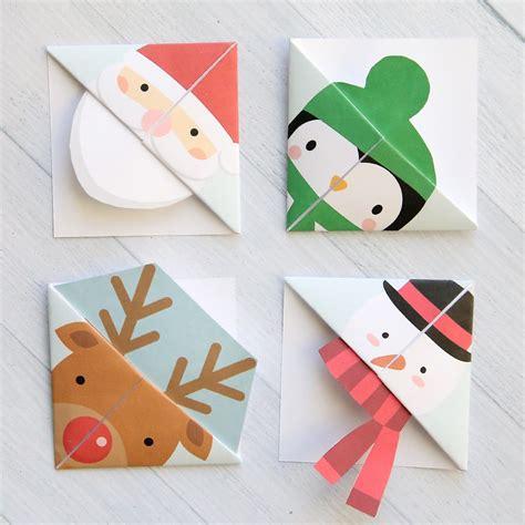 christmas template mark printable christmas origami bookmarks pinterest school