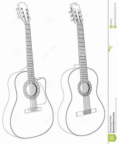 Acoustic Guitars Vector Royalty Dreamstime