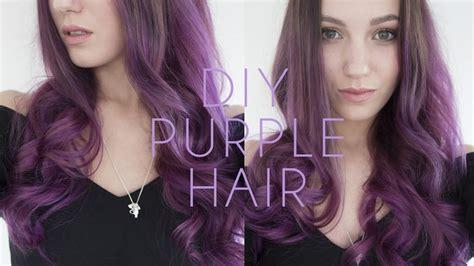purple hair dye tutorial   dye  hair  home