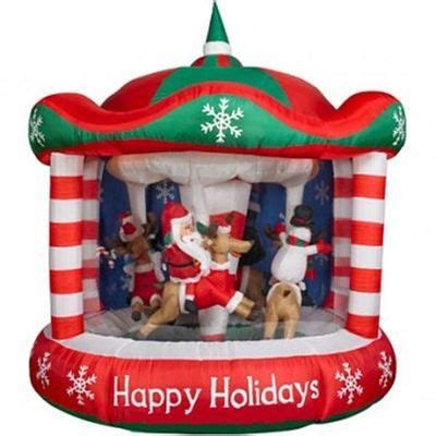 gemmy animated christmas characters riding carousel