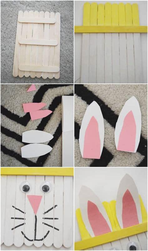 popsicle stick easter bunny craft  preschoolers