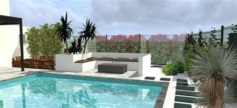 projet d am 233 nagement ext 233 rieur jardin avec piscine by orphis montpellier