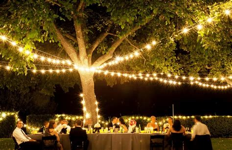outdoor wedding lighting ideas reception rustic unique