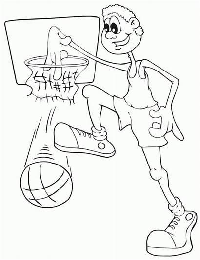 Basketball Tall Coloring Boy Sportowe Dyscypliny Kolorowanki
