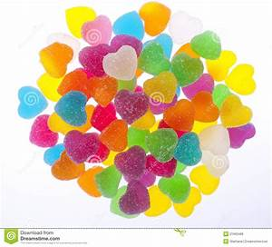 Colorful Heart Jelly In White Background Royalty Free ...