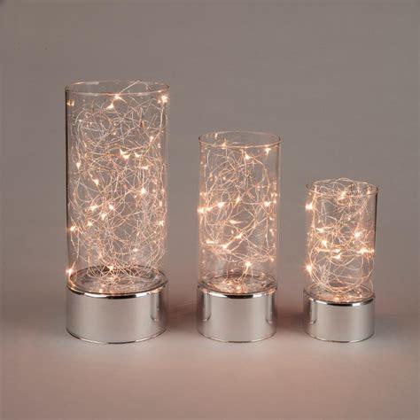 everlasting glow clear glass hurricane jars  micro led