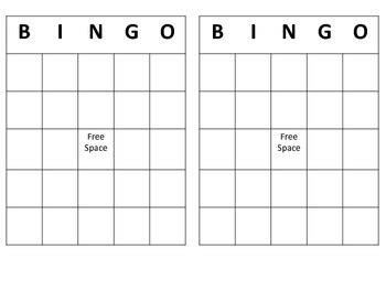 bingo template pdf free bingo template by gerardi teachers pay teachers