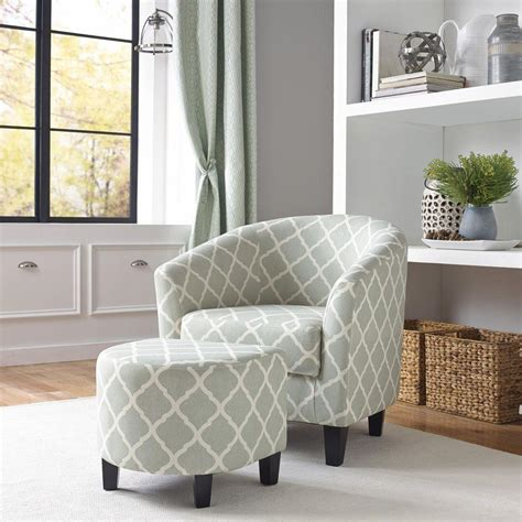 gray chair with ottoman pri gray arm chair with ottoman ds 2278 900 5 the home depot